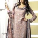 Shalwar Salwar Kameez Indian Designer Embroidered Crepe Suit - X 63