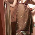Shalwar Salwar Kameez Indian Designer Embroidered Crepe Suit - X 29