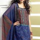 Shalwar Salwar Kameez Indian Designer Embroidered Crepe Suit - X 75