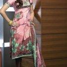 Shalwar Salwar Kameez Indian Designer Embroidered Crepe Suit - X 19