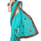 Indian Bollywood Designer Saree Embroidery Stylish Traditional Sari - TU 731