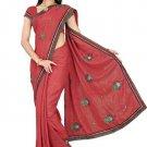 Indian Bollywood Designer Saree Embroidery Stylish Traditional Sari - TU 725