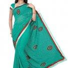 Indian Bollywood Designer Saree Embroidery Stylish Traditional Sari - TU 717