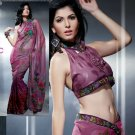 Net Brasso Bridal Designer Embroidered Sarees Sari With Blouse - X 418