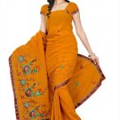 Indian Bollywood Designer Saree Embroidery Stylish Traditional Sari - TU 655