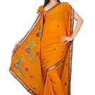 Indian Bollywood Designer Saree Embroidery Stylish Traditional Sari - TU 664
