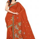 Indian Bollywood Designer Saree Embroidery Stylish Traditional Sari - TU 658
