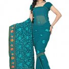 Indian Bollywood Designer Saree Embroidery Stylish Traditional Sari - TU 637