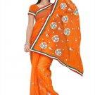 Indian Bollywood Designer Saree Embroidery Stylish Traditional Sari - TU 617