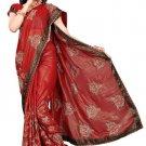 Indian Bollywood Designer Saree Embroidery Stylish Traditional Sari - TU 578