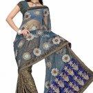 Indian Bollywood Designer Saree Embroiderey Stylish Traditional Sari - TU 521