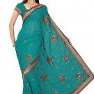Indian Bollywood Designer Saree Embroidery Stylish Traditional Sari - TU 706