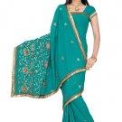 Indian Bollywood Designer Saree Embroidery Stylish Traditional Sari - TU 685