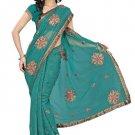 Indian Bollywood Designer Saree Embroidery Stylish Traditional Sari - TU 650