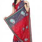 Indian Bollywood Designer Saree Embroidery Stylish Traditional Sari - TU 644