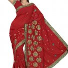 Indian Bollywood Designer Saree Embroidery Stylish Traditional Sari - TU 626