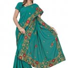 Indian Bollywood Designer Saree Embroidery Stylish Traditional Sari - TU 625