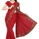 Indian Bollywood Designer Saree Embroidery Stylish Traditional Sari - TU 581