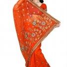 Indian Bollywood Designer Saree Embroidery Stylish Traditional Sari - TU 564