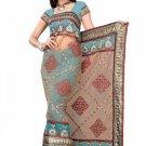 Indian Bollywood Designer Saree Embroiderey Stylish Traditional Sari - TU 528
