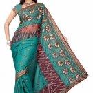 Indian Bollywood Designer Saree Embroiderey Stylish Traditional Sari - TU 501