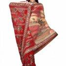 Indian Bollywood Designer Saree Embroiderey Stylish Traditional Sari - TU 499