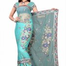 Indian Bollywood Designer Saree Embroiderey Stylish Traditional Sari - TU 497