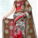 Indian Bollywood Designer Saree Embroidered Sari - Tu6736