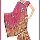 Indian Bollywood Designer Saree Embroidered Sari - TU6761