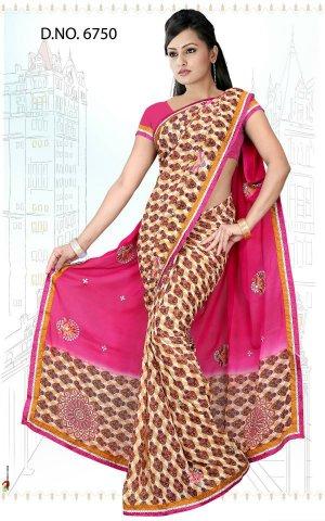 Indian Bollywood Designer Saree Embroidered Sari - Tu6750