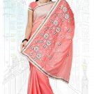 Indian Bollywood Designer Saree Embroidered Sari - TU6252