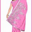 Indian Bollywood Designer Saree Embroidered Sari - TU6224