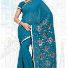 Indian Bollywood Designer Saree Embroidered Sari - TU6218