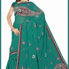 Indian Bollywood Designer Saree Embroidered Sari - TU6199