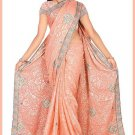 Indian Bollywood Designer Saree Embroidered Sari - TU6189