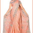 Indian Bollywood Designer Saree Embroidered Sari - TU6189