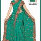 Indian Bollywood Designer Saree Embroidered Sari - TU6183