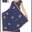 Indian Bollywood Designer Saree Embroidered Sari - TU6174