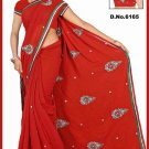Indian Bollywood Designer Saree Embroidered Sari - TU6165