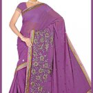 Indian Bollywood Designer Saree Embroidered Sari - TU6118