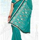 Indian Bollywood Designer Saree Embroidered Sari - TU6004