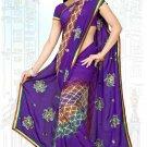 Indian Bollywood Designer Saree Embroidered Sari - Tu6716