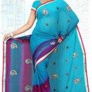 Indian Bollywood Designer Saree Embroidered Sari - Tu6709