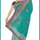 Indian Bollywood Designer Saree Embroidered Sari - TU6618