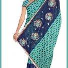 Indian Bollywood Designer Saree Embroidered Sari - TU6614