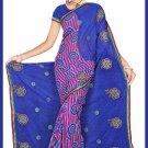 Indian Bollywood Designer Saree Embroidered Sari - TU6611