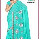Indian Bollywood Designer Saree Embroidered Sari - TU6260