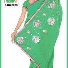 Indian Bollywood Designer Saree Embroidered Sari - TU6259