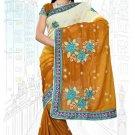 Indian Bollywood Designer Saree Embroidered Sari - TU6237