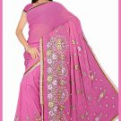 Indian Bollywood Designer Saree Embroidered Sari - TU6233